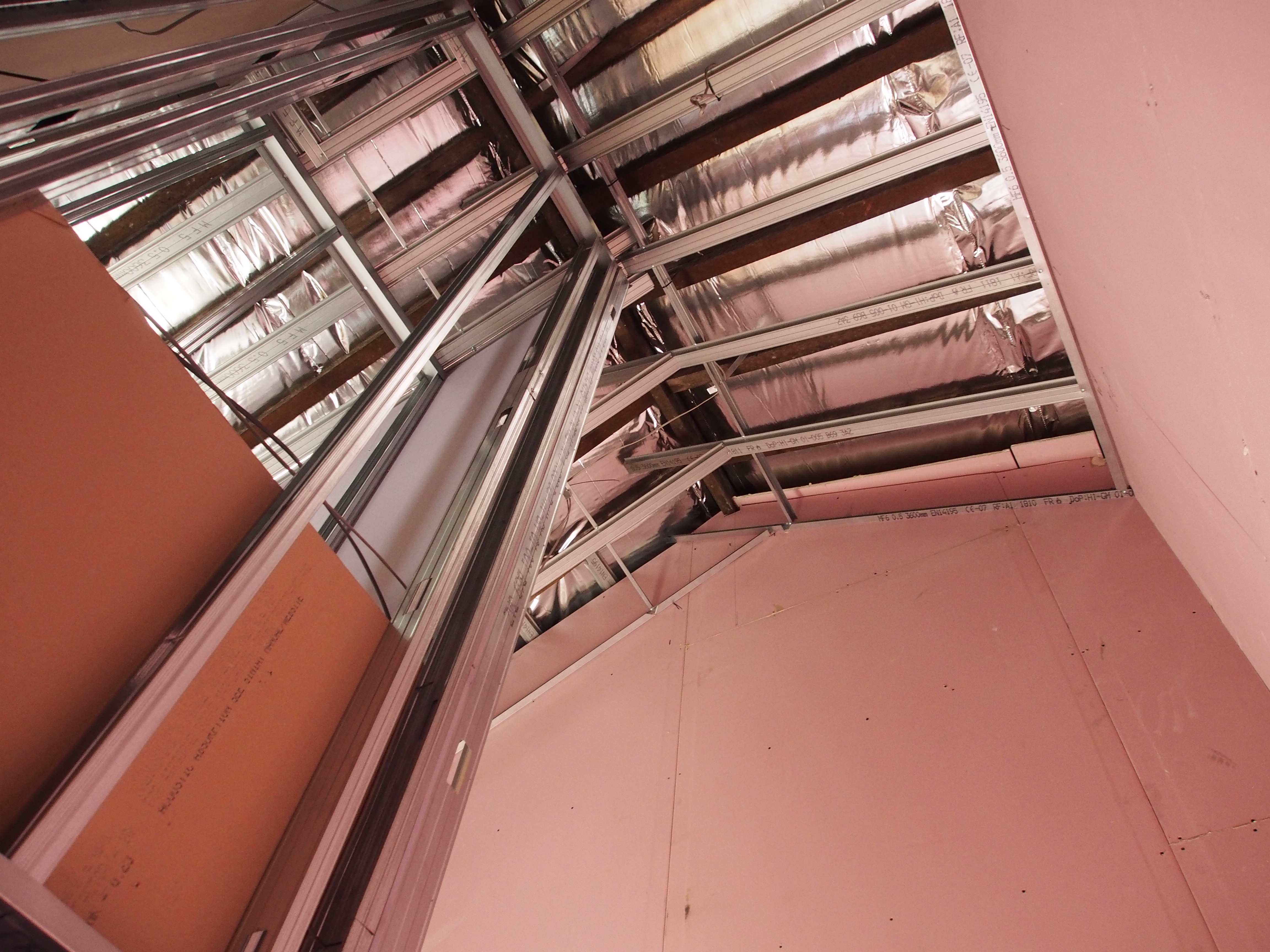 Double height ceilings boarded